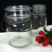 SALE Pint And Half Pint Wire Bail Canning Jars