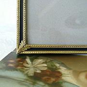 SOLD 50% OFF - Ornately Designed Vintage Brass Filigree Photo Frame