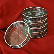 SALE Signed Wilcox Silver Plate Coasters