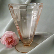 Footed Pink Juice Tumbler Early Mid-Century