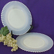 SALE Pair Petalware Luncheon Plates With Fluted Edge