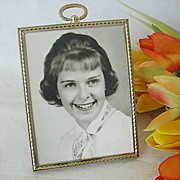 SOLD Small Brass 1950's Portrait Frame