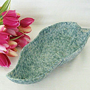 SALE Roseville Pottery Capri Leaf Dish - Signed & Numbered