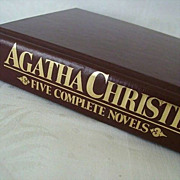 SALE Agatha Christie Collection of Five Poirot Novels
