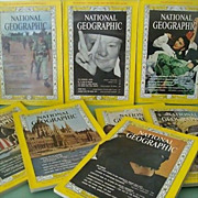 SOLD National Geographic Eight Issues 1965 Including Viet Nam