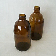 SALE Mid-Century Brown Bottles - One Anheuser-Busch