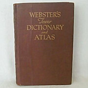 SALE Webster's Tower Dictionary & Atlas 1946