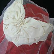 SALE Vintage Bridal Cap Shaped Like Lotus Petals