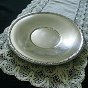 SALE Wallace Silver Plate Serving Platter With Leaf Edge