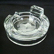 Heavy Glass Pipe or Cigar Ashtray