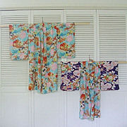 SALE Pair Child Sized Colorful Kimono Costumes