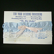 SALE Garter Belt for the Bride - Something Old and Blue