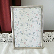 SOLD 1960s Silver Plate Picture Frame