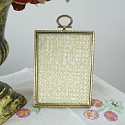 SOLD Classic Gold Tone Tabletop Picture Frame