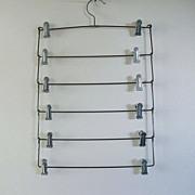 SALE Vintage 6-Skirt Metal Hanger