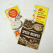 Trio of Vintage Borden's Recipe Booklets