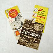 SALE Trio of Vintage Borden's Recipe Booklets