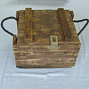 SALE Milan Ammo Crate 1970 With Stamped Address