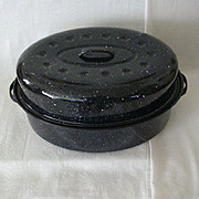 Seamless Large Graniteware Roaster