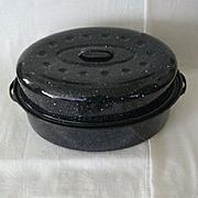 SALE Seamless Large Graniteware Roaster