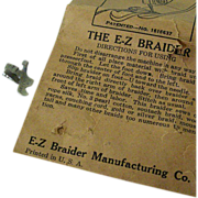 SALE Sewing Machine Braiding Attachment Patented 1927
