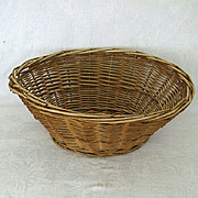 SALE Familiar Oval Wicker Laundry Basket