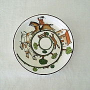Small Staffordshire Dish With Foxhunt Scene