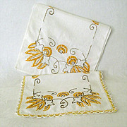 Colorful Hand Embroidered Dresser Scarves