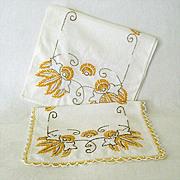 SALE Colorful Hand Embroidered Dresser Scarves