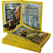 SALE National Geographic Eight Issues 1966