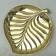 SALE Brilliant Brass 1960s Durabrite Tray