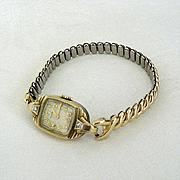 Elgin Wrist Watch With Two Diamonds 10K