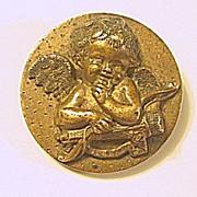 Antique Bronze Cupid Pin / Brooch Valentine's Day
