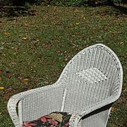 Art Deco Wicker Arm Chair