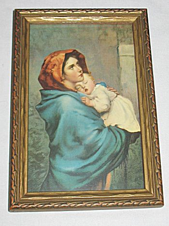 Madonna Of The Street Virgin Mary Holds Sleeping Infant