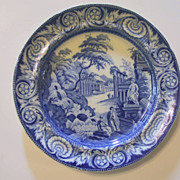 Antique  Rogers Staffordshire   Blue Plate