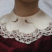Antique Victorian Lace Collar Circa 1890's