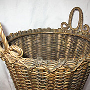SALE AVictorian Wicker Basket