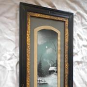 Late 19th Century Enchanting Pastel Winter Scene Original Art