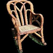 SALE Very Rare Victorian Child's Wicker Rocker Circa 1860's