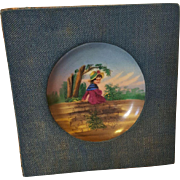 Rare Antique Hand Painted Kate Greenaway Porcelain Plate Circa 1910