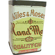 SALE Niles and Moser Advertising Cigar Tin
