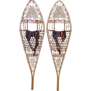 SOLD Snowshoes  Wood Frame Pair