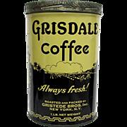 Gridsale Coffee Advertising Tin