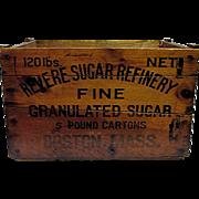 SOLD Revere Sugar Refinery Wood Advertising Box