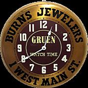 REDUCED Gruen Watch Advertising Wall Clock