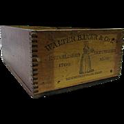 Walter Baker & Co. Ltd.  Vanilla Chocolate Wood Advertising Box