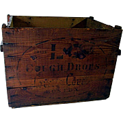 L-C Cough Crops Early Wood Advertising Box
