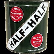 SALE Half and Half Unopened Tobacco Advertising Tin