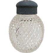 Raised Diamonds Pattern American Glass Shaker